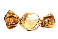 Конфета шоколада в золотой оболочке Стоковая Фотография