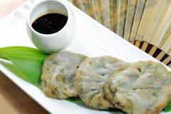 Конфета Kuicheai, chives чеснока с источником сои Тусклая сумма китайская кухня Стоковое фото RF