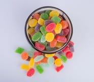 конфеты или конфеты студня на предпосылке Стоковые Изображения