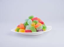 конфеты или конфеты студня на предпосылке Стоковые Изображения RF