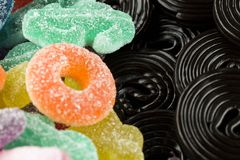Конфеты и солодка стоковое фото rf