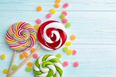 Конфеты и lollipops стоковая фотография rf
