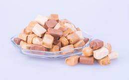 Конфеты Конфеты карамельки конфеты карамельки на предпосылке caram Стоковые Фотографии RF