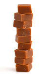 Конфеты карамельки на белизне Стоковые Изображения