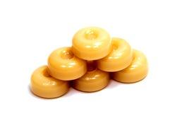 Конфеты карамельки на белизне Стоковые Изображения RF