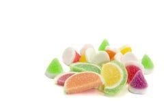 Конфеты конфеты студня в плите на предпосылке Конфеты студня Стоковые Изображения