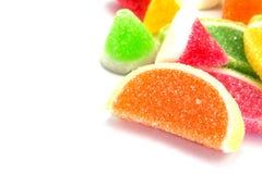 Конфеты конфеты студня в плите на предпосылке Стоковое Изображение