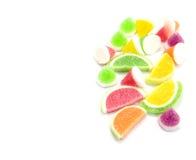 Конфеты конфеты студня в плите на предпосылке Стоковые Изображения