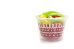 Конфеты конфеты студня в плите на предпосылке Стоковое Фото