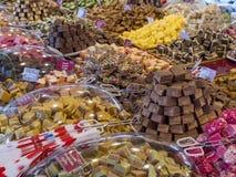Конфеты, магазин конфеты в Malmö, Швеции, Европе стоковые изображения rf