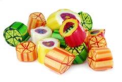 конфеты радуги изолированные на белизне Стоковое Изображение