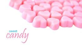 Конфеты сердца форменные розовые стоковая фотография