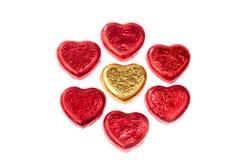 Конфеты сердец шоколада Стоковая Фотография RF