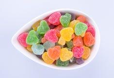 Конфеты конфеты студня в шаре на предпосылке конфеты студня внутри Стоковое Фото