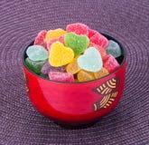 Конфеты конфеты студня в шаре на предпосылке конфеты студня внутри Стоковые Изображения RF