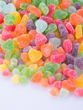 Конфеты конфеты студня на предпосылке конфеты студня на backg Стоковые Изображения RF