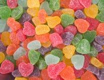 Конфеты конфеты студня на предпосылке конфеты студня на backg Стоковое Изображение RF