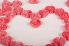 Конфеты с формой сердец Стоковые Изображения