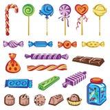 конфеты установили Стоковые Изображения RF