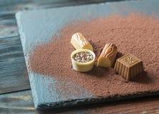 Конфеты шоколада с какао Стоковые Фото
