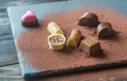 Конфеты шоколада с какао Стоковые Фотографии RF