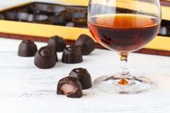 Конфеты шоколада с рябиновкой Стоковые Фото