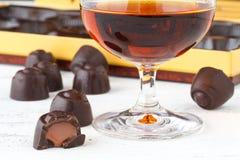 Конфеты шоколада с рябиновкой Стоковое фото RF