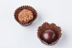 Конфеты шоколада изолированные на белой предпосылке Стоковая Фотография