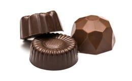 Конфеты шоколада на белизне Стоковая Фотография