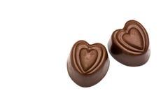 Конфеты шоколада на белизне Стоковые Фото