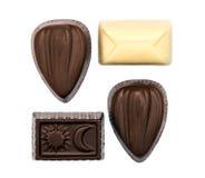 Конфеты шоколада на белизне Стоковое фото RF