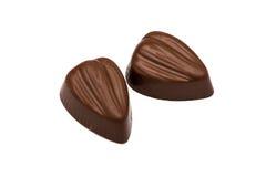 Конфеты шоколада на белизне Стоковое Изображение
