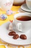 Конфеты шоколада пасхального яйца форменные Стоковое фото RF