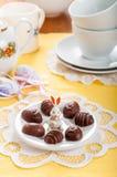 Конфеты шоколада пасхального яйца форменные Стоковая Фотография RF