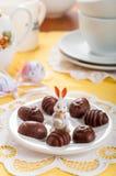 Конфеты шоколада пасхального яйца форменные Стоковые Изображения