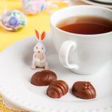 Конфеты шоколада пасхального яйца форменные Стоковое Фото