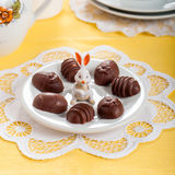 Конфеты шоколада пасхального яйца форменные Стоковые Изображения RF