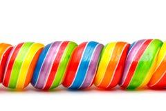 Конфеты Lollipop Twirl радуги стоковое изображение