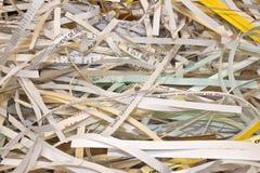 конфиденциальная shredded бумага Стоковые Фотографии RF