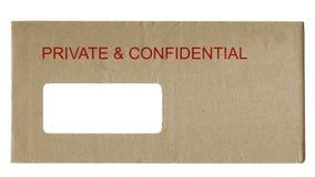 конфиденциальное приватное Стоковое Изображение