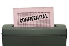 конфиденциальный бумажный шредер стоковые изображения rf
