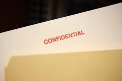 конфиденциальный штемпель Стоковое Фото