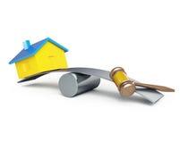 Конфискация домов, захват иллюстрация вектора