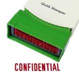 Конфиденциальный Stamper Стоковые Изображения