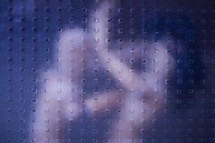 Конфликт семьи в спальне стоковое фото rf
