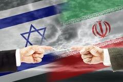 Конфронтация и вражда между Израилем и Ираном стоковые изображения