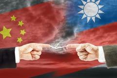 Конфронтация и вражда между Китаем и Тайванем стоковое изображение