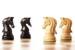 Конфронтация - шахматы Стоковые Фотографии RF