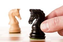 Конфронтация - шахматы Стоковое Изображение