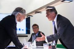 Конфликт в офисе Стоковое Фото